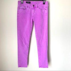 J. Crew Purple Toothpick Ankle Jeans